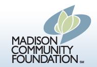 Logo reading Madison Community Foundation
